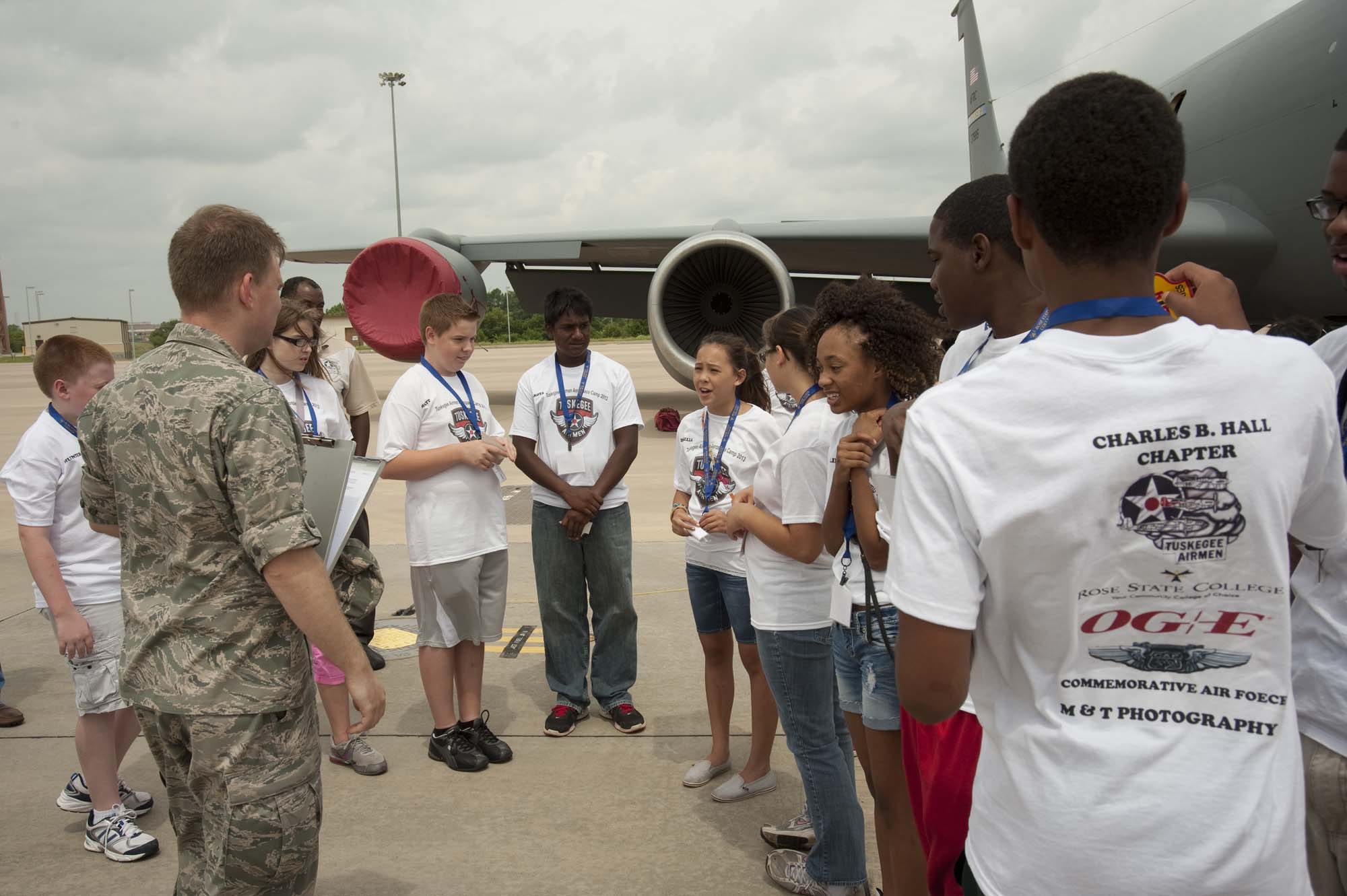 2013_06_19 – Tuskegee Airmen Camp – KC-135 Tour-3005